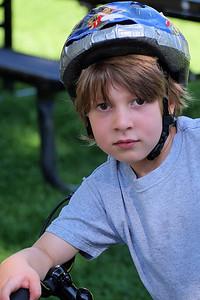 Noah on His Bike