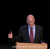 87-year-old Senator George McGovern speaking at Colorado College