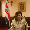 First female president of Costa Rica, Laura Chinchilla, 2010.