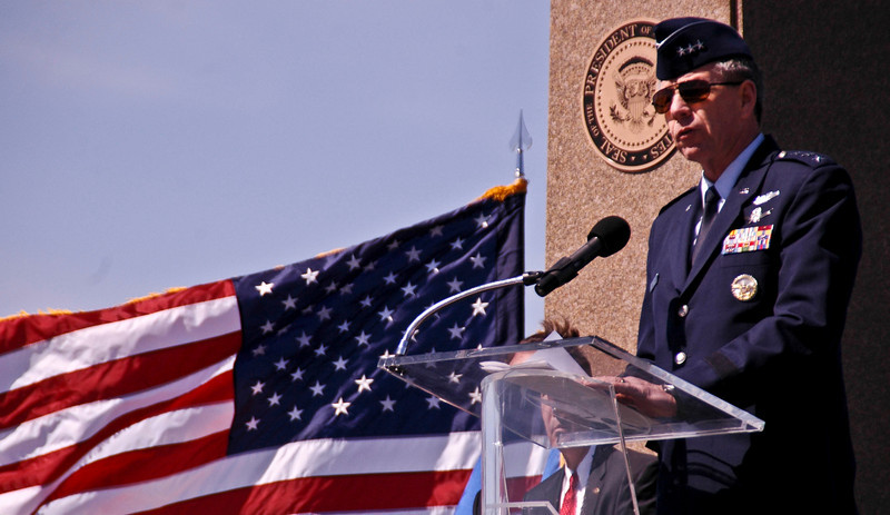 "Lt. General Henry ""Trey"" Obering-director of the Missile Defense Agency (MDA), Vandenberg Airforce Base, California, 2008."