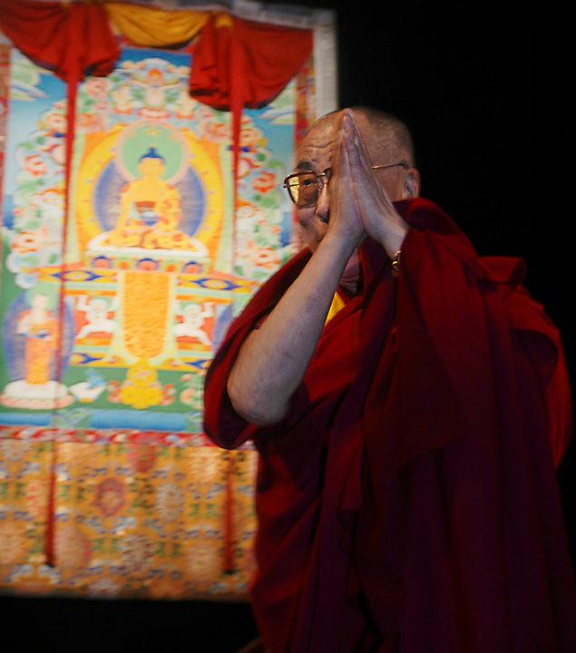 His holiness the Dalai Lama, Santa Barbara, California, 2008.