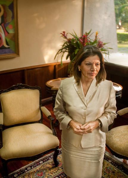 First female president of Costa Rica, Laura Chinchilla, 2010.