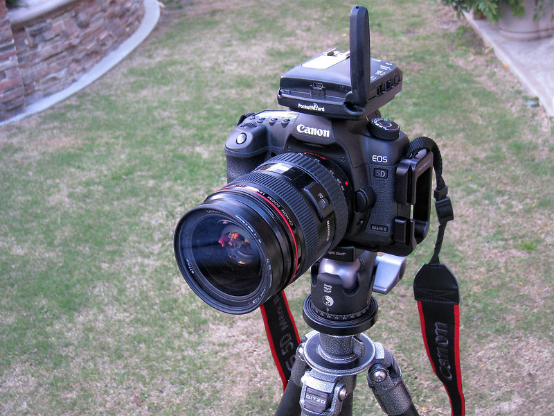 PocketWizard FlexTT5 Transceiver on Canon 5D II.<br /> I am running the latest ControlTL firmware v5.00