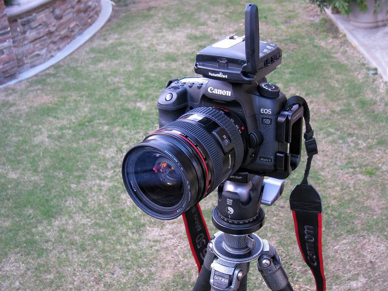 PocketWizard FlexTT5 Transceiver on Canon 5D II.<br /> I am running the latest ControlTL firmware v5.00