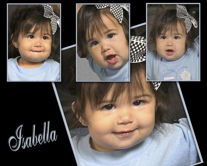 This Special Collage of Isabella Can Only Be Printed as 8x10.