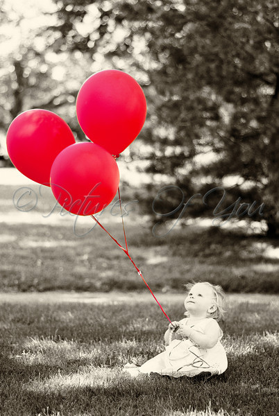 Zoey and her Red Balloons