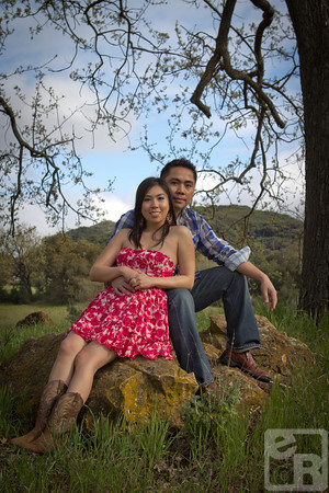 Rex and Roselle, on location couples shoot