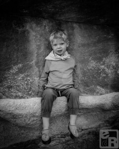 Portrait of a Little Climber in Joshua Tree
