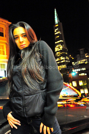 Karina in downtown San Francisco