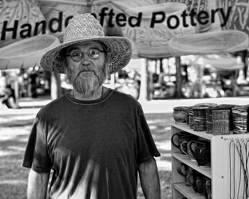 Handcrafted pottery man