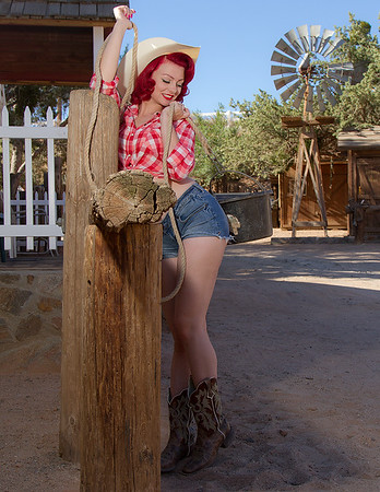 Cowgirl-pinup