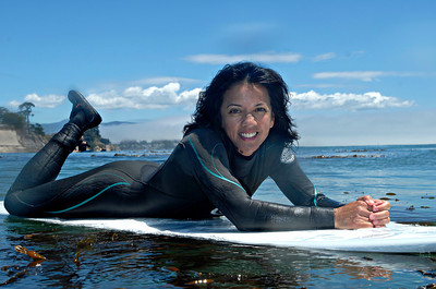 This judge is at home on the water, she has been surfing for over 20 years.