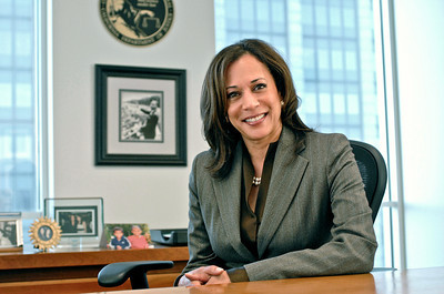 Then State Attorney General Kamala Harris in her San Francisco office.