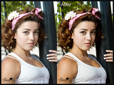 Here's one I'm going to use as an ad for my photoshop skills. :D Before and After.