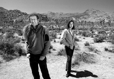 Brendan Cummings and Kassie Seigel, attorneys for the Center for Biological Diversity. Photographed near Joshua Tree National Park for California Lawyer magazine.