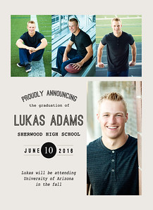 Lukas Adams Grad Card Back 2