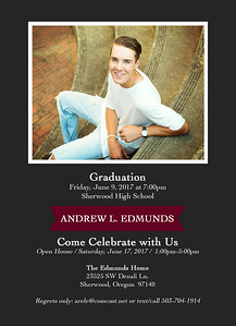 Andrew Edmunds Grad Back