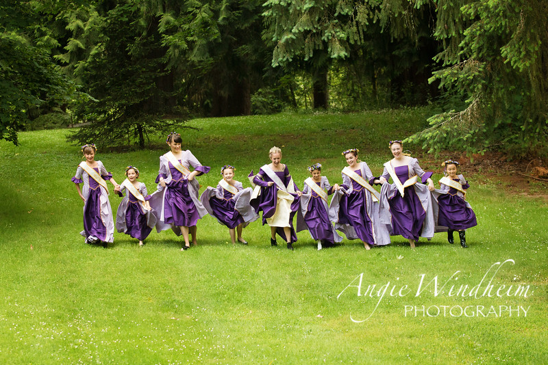 Maid Marian Court 2016 in Sherwood Oregon