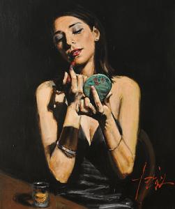Ana Sidel Portrait by Fabian Perez