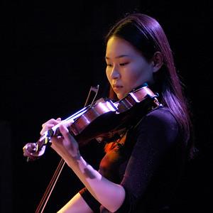 Ayako, violinist (artist portrait from Jack Gabel's 'Spring Quartet' CD)