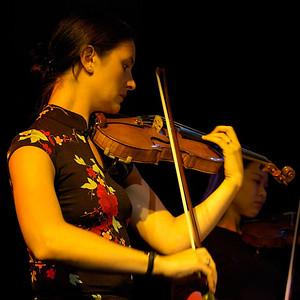Erin, violinist (artist portrait from Jack Gabel's 'Spring Quartet' CD)
