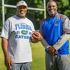 Palatka High head coach Willie Fells with his mentor John L. Williams