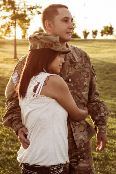 James and Reyna are a beautiful newlywed couple. I had the pleasure of capturing this image while James was home from Military duty.