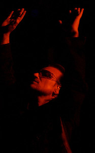 Bono of U2, Madison Square Garden