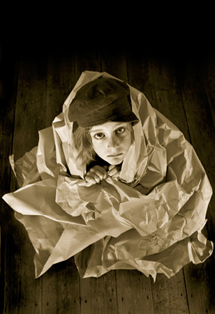 Promo image for the show 'Paperhouse' for La Boite Theatre 2001.