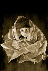 Promo image for the show 'Paperhouse' for La Boite Theatre 2001.