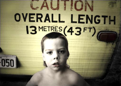 """""""Caution Boy"""" This picture taken for a Brisbane City Council project exploring & documenting caravan park culture."""