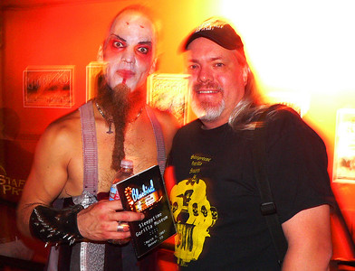 With Nils Frykdahl of Sleepytime Gorilla Museum.  I just presented him a DVD I made of their last show in Denver.
