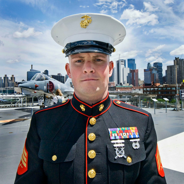 Marine, USS Intrepid, NYC