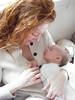 Tony award winning opera singer Lisa Hopkins Seegmiller, with her first child. Washington, D.C.