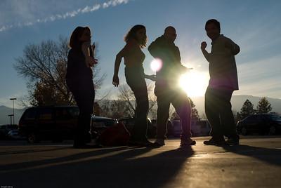 Dancing in the sun.