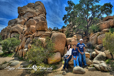 Darlene, Kethan & Vasantha at Joshua Tree National Park, California March 31, 2010
