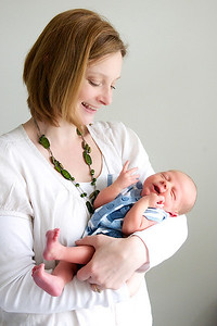 Auntie Micheala with baby Ethan
