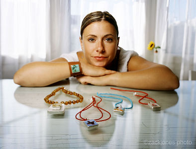Zoe Chicco, jewelery artist. 2003