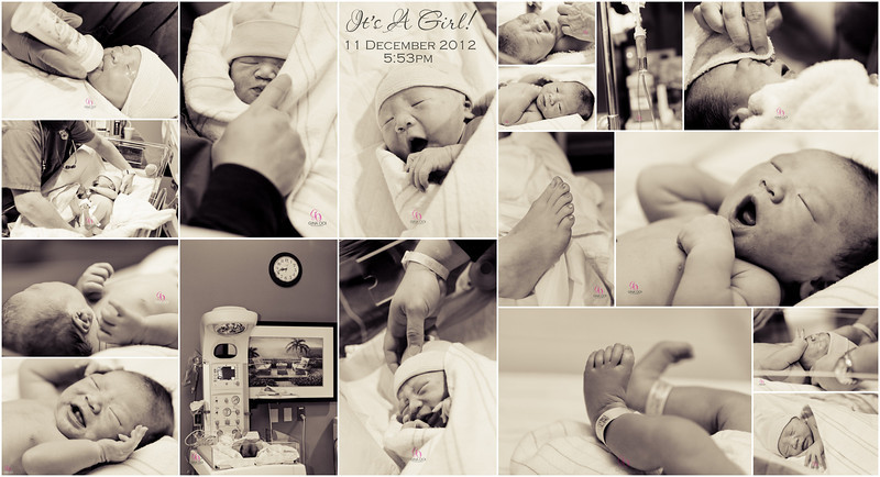 Images of a beautiful baby girl in the delivery room.  Welcome to the world, Baby!  Congratulations to a wonderful family!