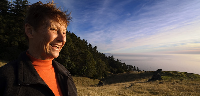 Portrait of Nancy Valente on Mount Tamalpais