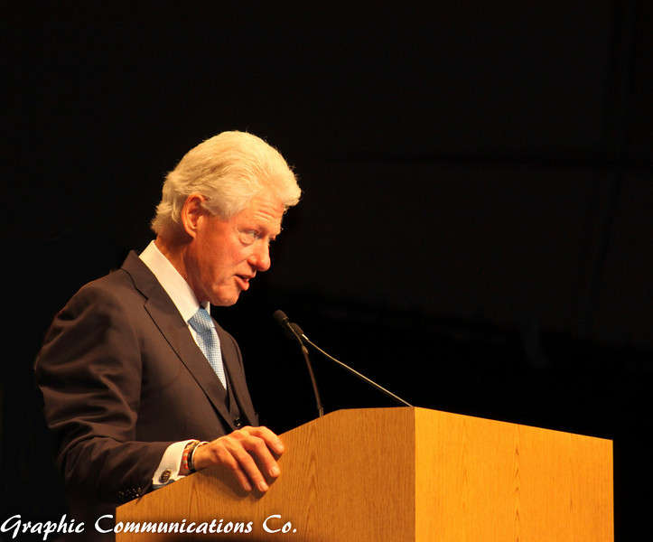 Former President Bill Clinton at a rally in support of Jerry Brown for Governor of California