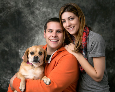 "My son Chris, his wife, Marissa, and their ""child"" Bella"