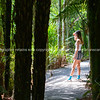 Attractive teenage girl on path of bush walk      Model Released; Yes