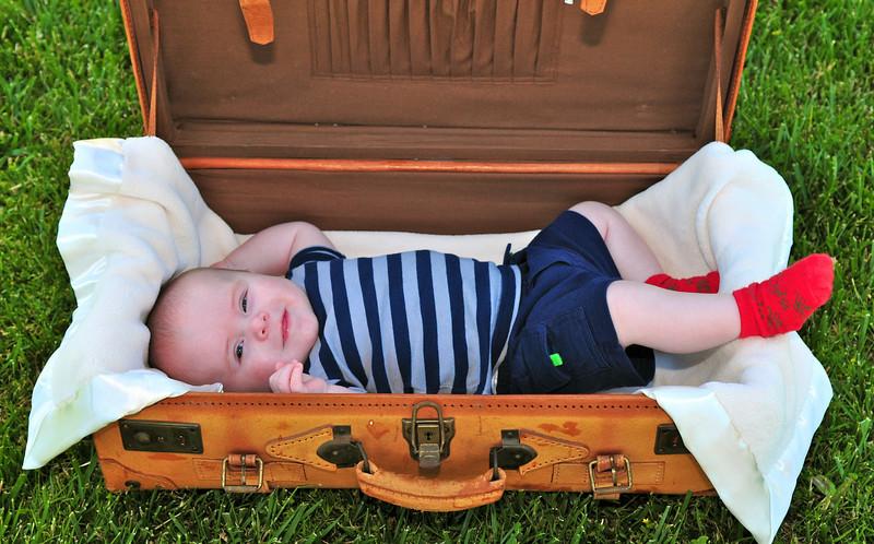 Baby Luke - three month baby portrait.