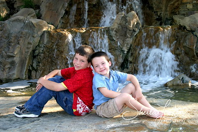 Boys waterfall