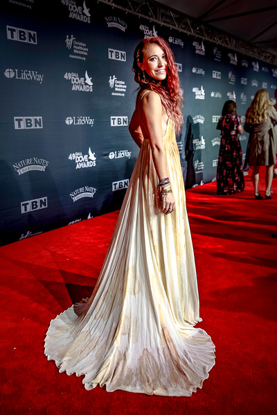 Lauren Daigle asked me to get a picture of the back of her dress at GMA Dove Awards 2018