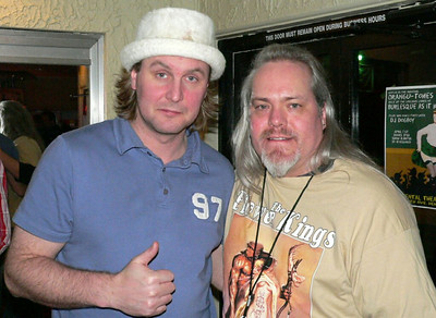 With Jonas Reingold.  Bass player for The Flower Kings.