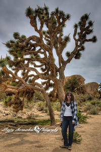 Darlene at Joshua National Park, California, March 31, 2010