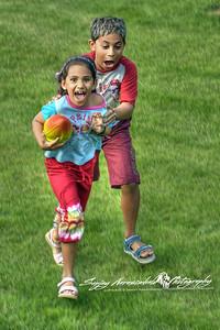 Kethan & Vasantha - Football Hi-jinx, Charlottetown, Prince Edward Island, Canada July 14, 2004