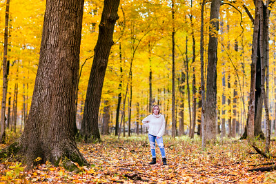 M in Yellow Autumn Woods